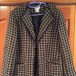Tweed - like long length jacket 🧥 16W